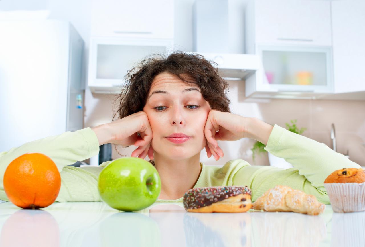 Mulher a fazer dieta