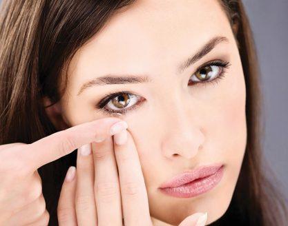 Maquilhagem para quem usa lentes de contacto