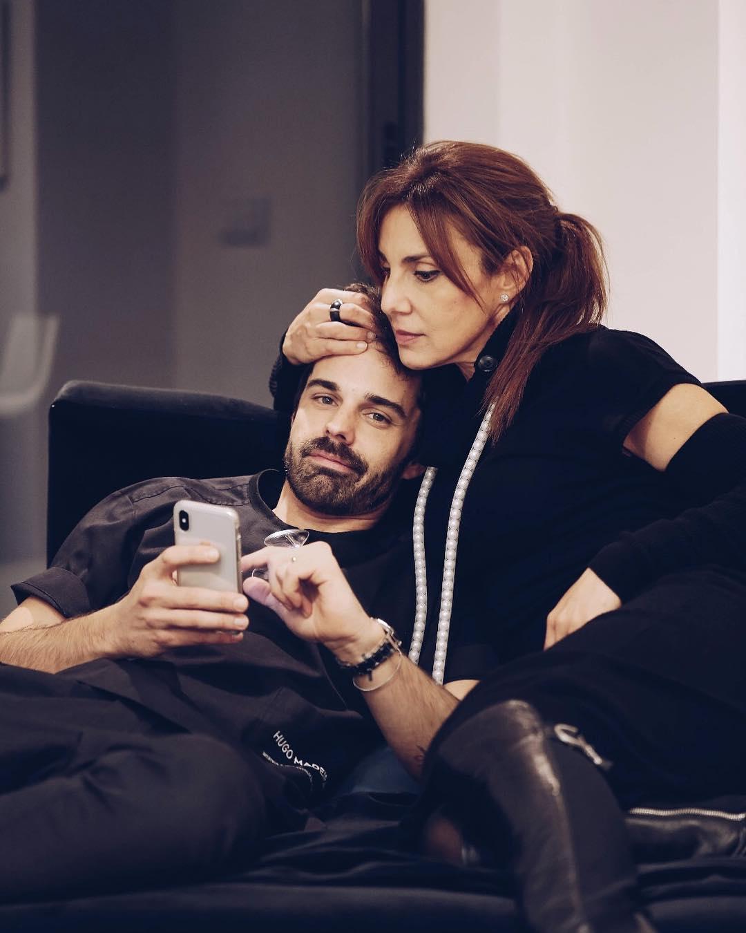 Hugo Madeira com a mãe