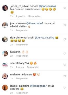 O comentário de Érica Silva a João Sousa