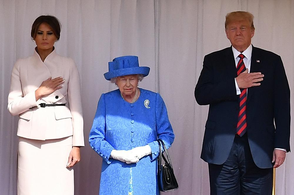 melania trump rainha isabel II