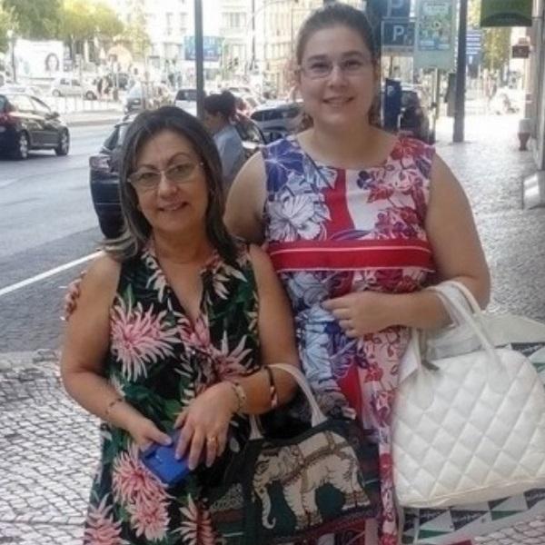 Diana Fialho e a mãe