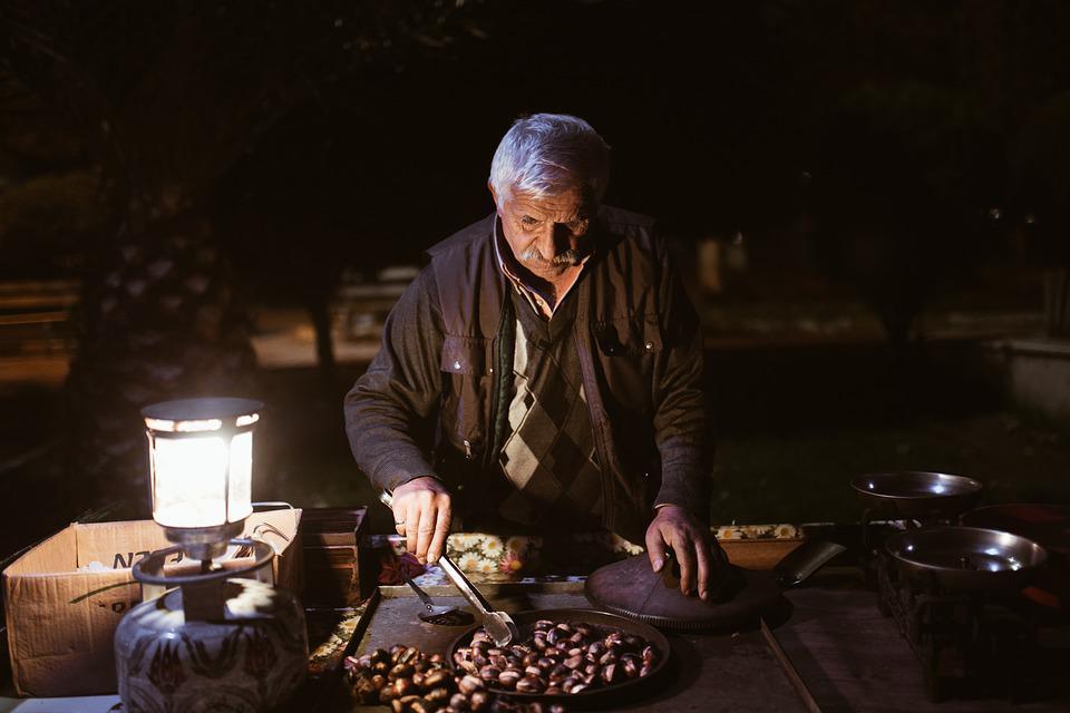 vendedor de castanhas