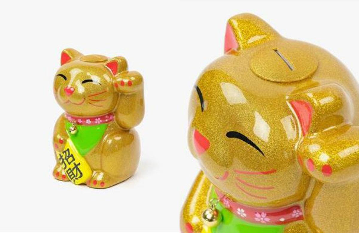 21/26 Maneki Neko Lucky Cat Gold - 19,95 euros - Loja do Gato Preto