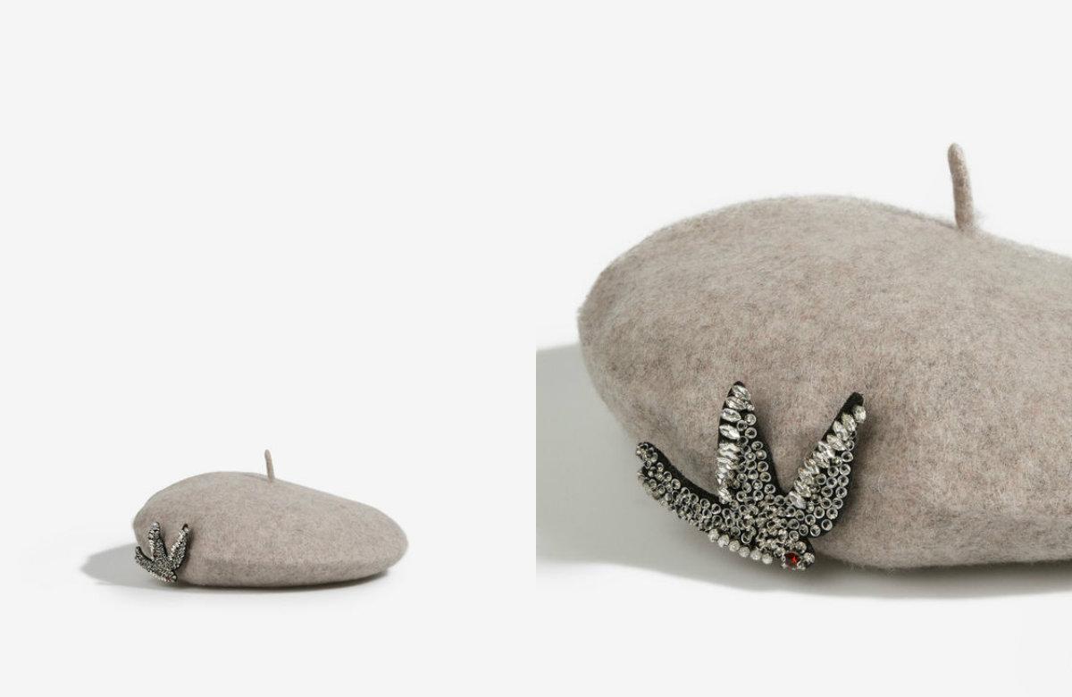15/26 Boina wool sparkly detail 15,99 euros - Parfois