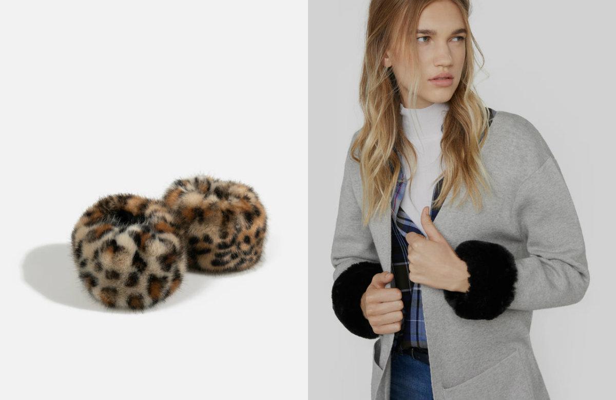 Punhos Fur pretos ou leopardo - 12,99 euros - Parfois