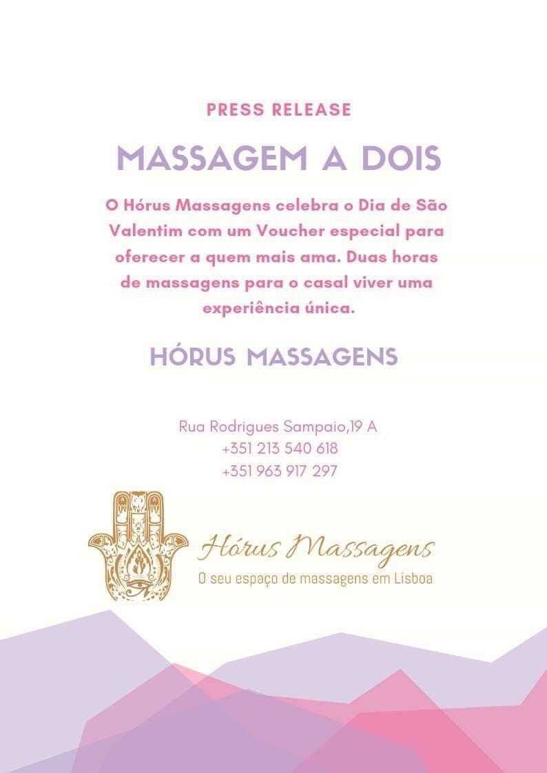 Uma massagem relaxante da Hórus Massagens