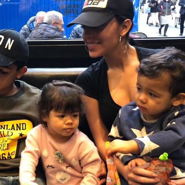Georgina Rodriguez perseguida no Zoo em passeio com os filhos
