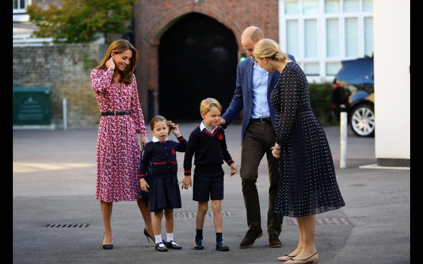 George e Charlotte Kate Middleton