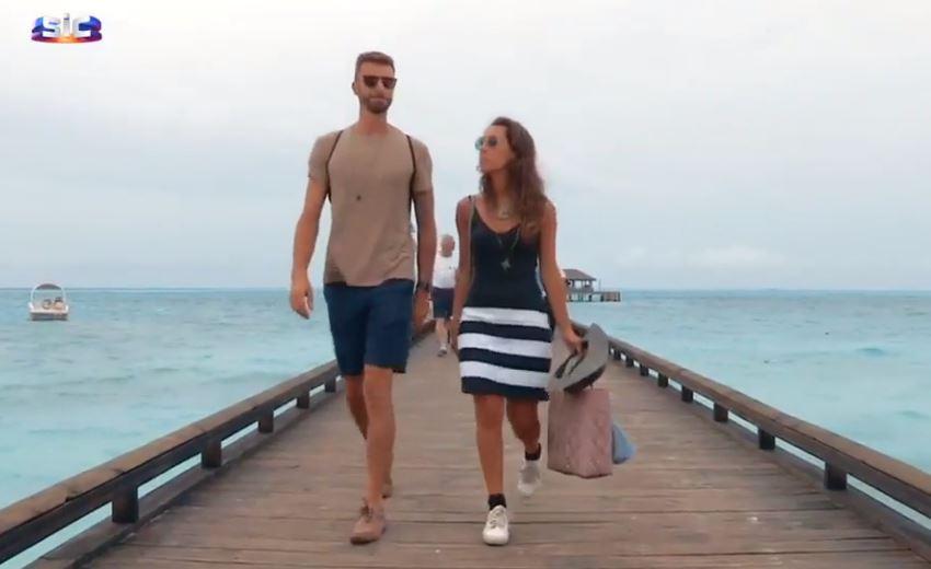Marta e Luís estão nas Maldivas