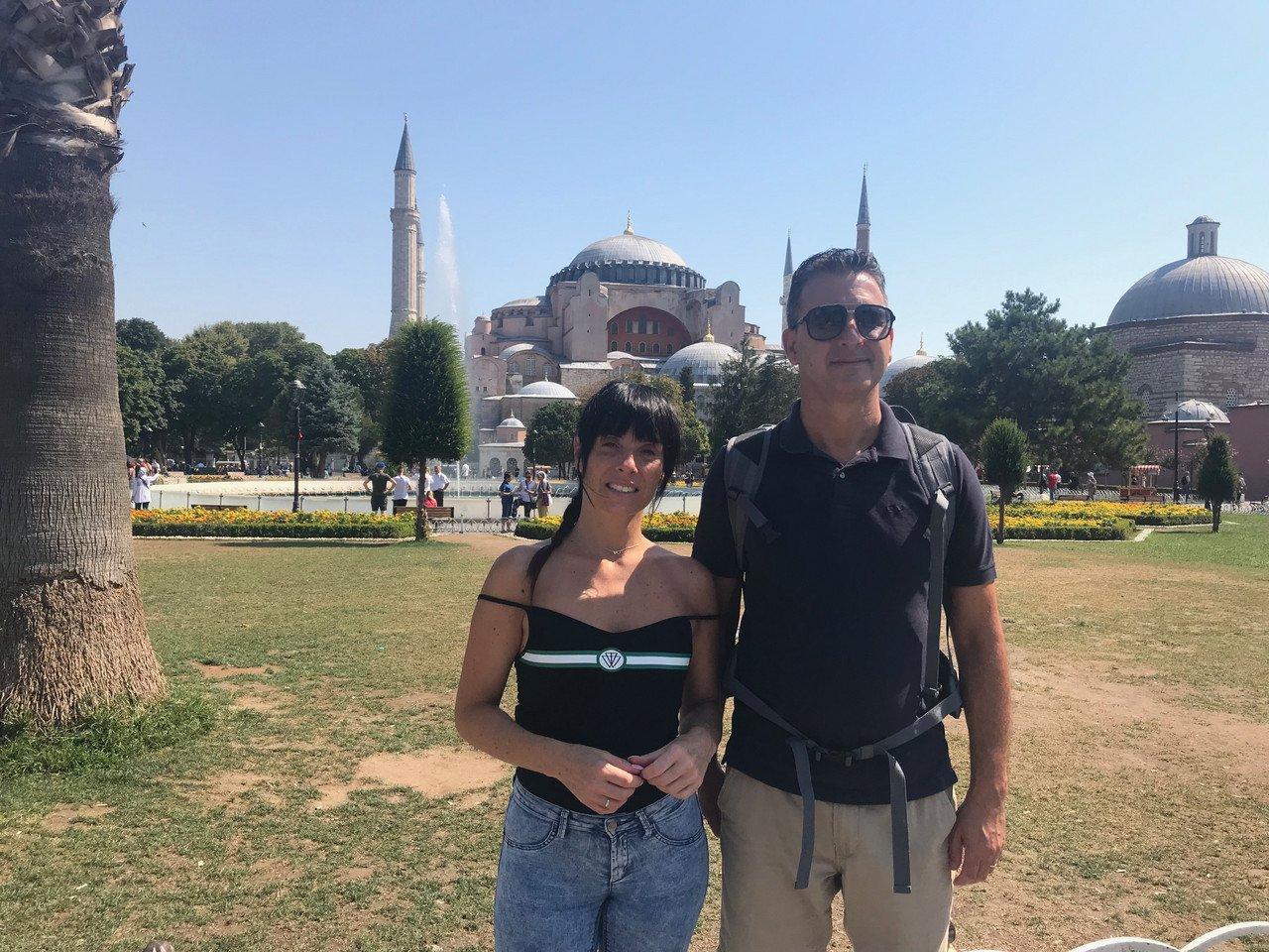 Ana Raquel e Paulo estão em Istambul, na Turquia