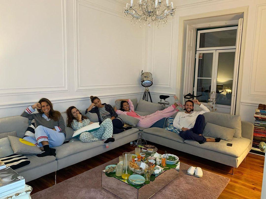 Sofia Ribeiro e os amigos