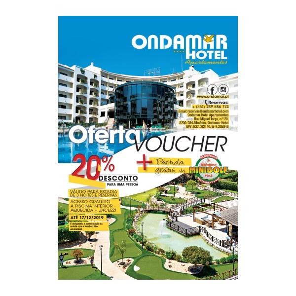 Voucher de 20% de desconto no Ondamar Hotel com a revista Maria!