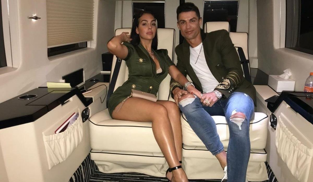 Georgina e Ronaldo Dest