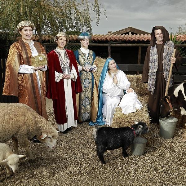 Até a vaca e o burro lá estiveram! Concorrentes de Casados formam presépio humano [vídeo]