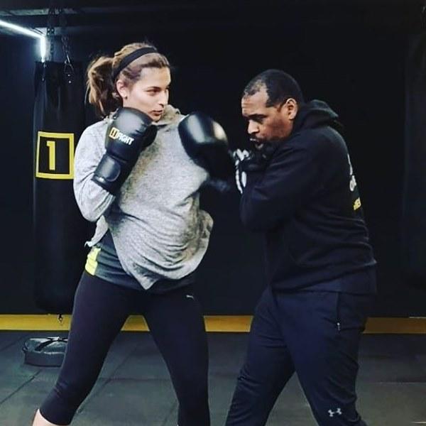Benedita Pereira 'vai à luta' na reta final da gravidez! Atriz mostra-se a treinar boxe