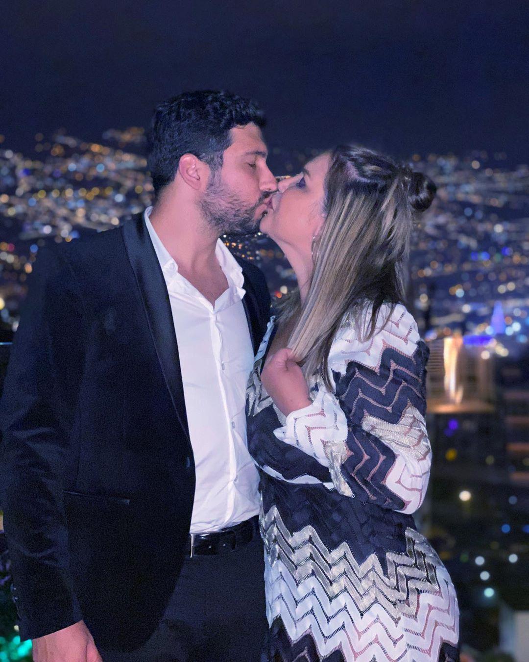 Katia Aveiro com o namorado