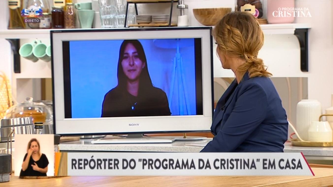 Repórter do programa de Cristina Ferreira