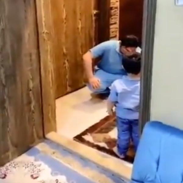 Covid-19: Médico não contém as lágrimas ao ser obrigado a recusar abraço do filho (Vídeo)