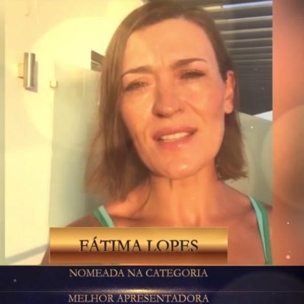 Fátima Lopes agradece nomeação para os Troféus Impala Televisão 2020