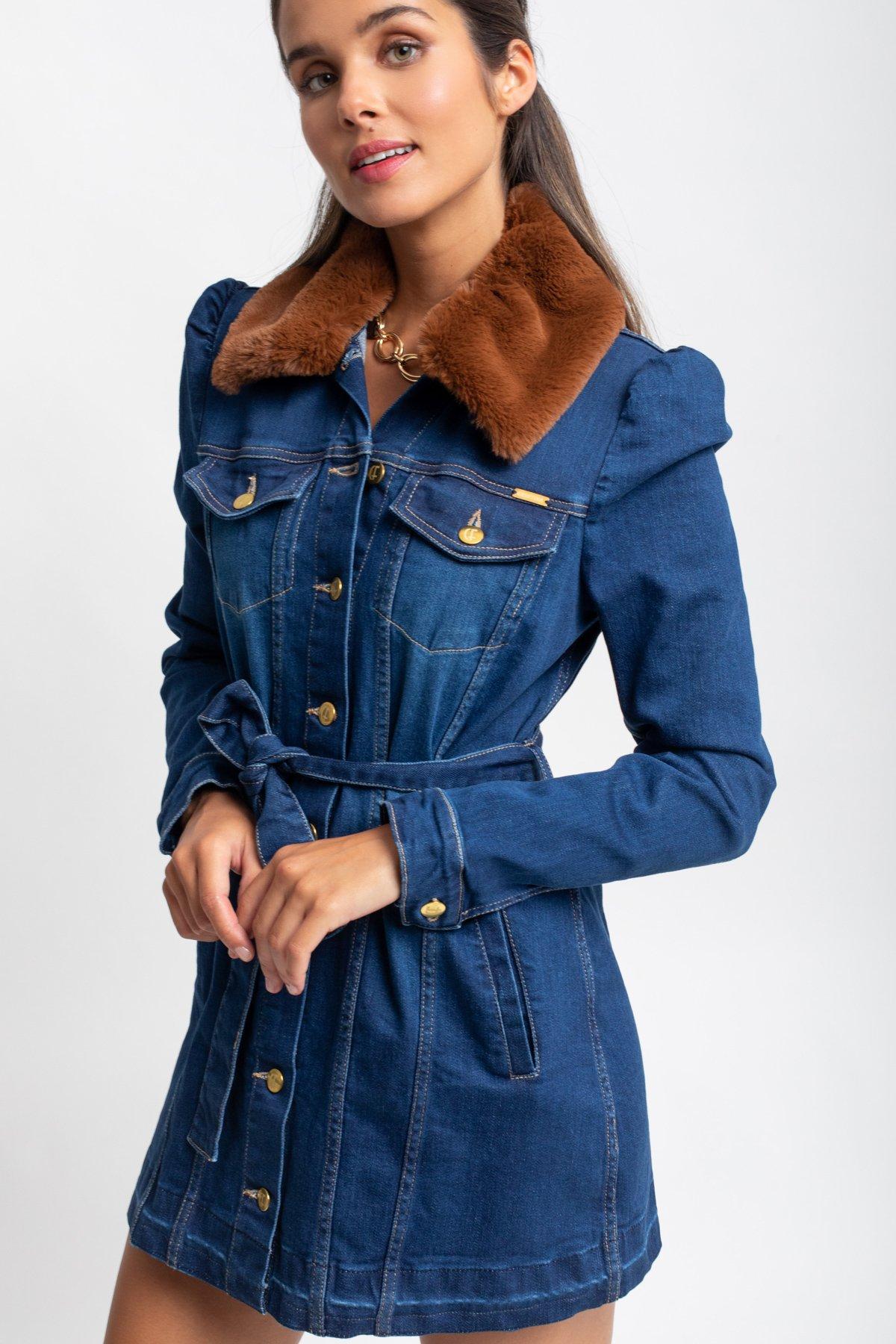 casaco vestido ganga Cristina Ferreira