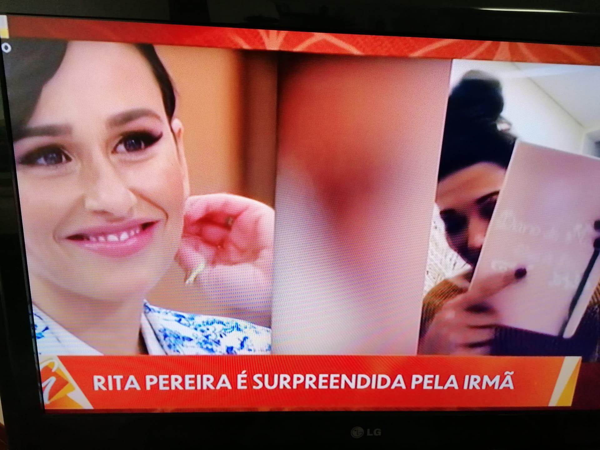 Rita Pereira emocionada