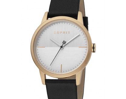 Relógio masculino Classy Black leather Esprit