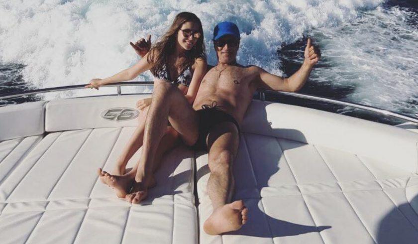Sara Carreira com o pai, Tony Carreira